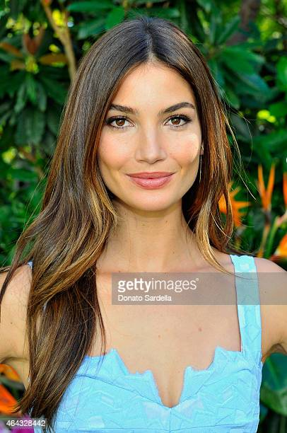 Victoria's Secret Supermodel Lily Aldridge celebrates The Sexiest Push Ups and the Victoria's Secret Swim Special at Sunset Marquis Hotel Villas in...