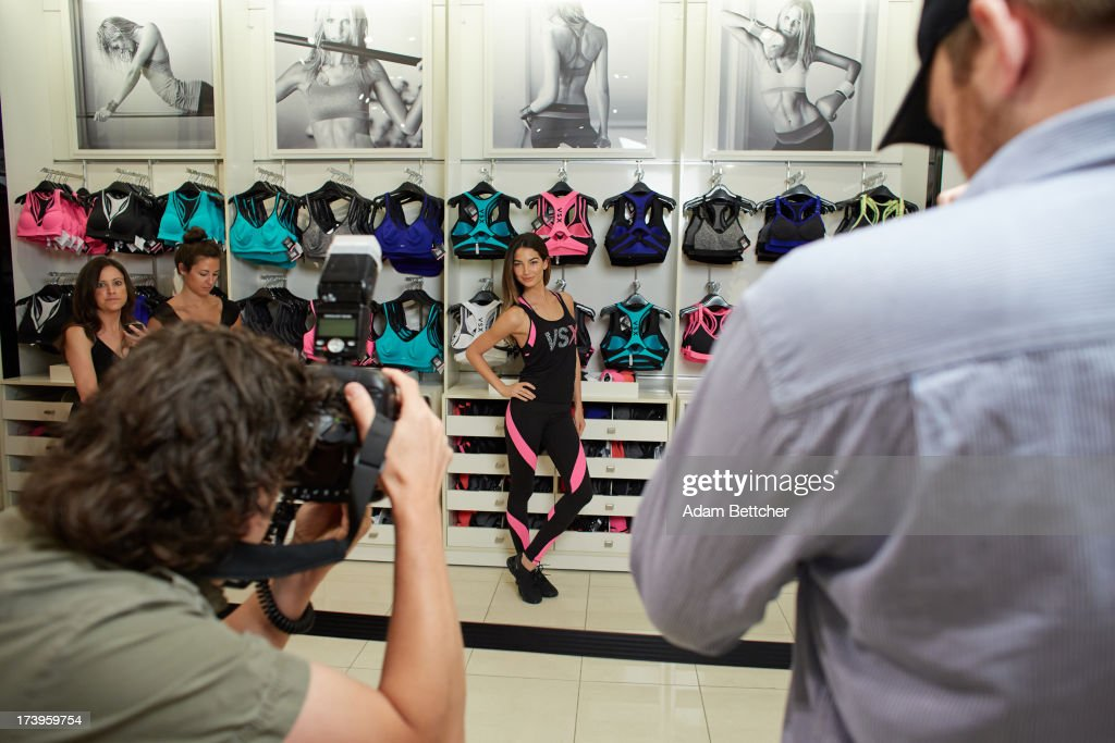Victoria's Secret Supermodel Lily Aldridge makes an appearance at Rosedale Mall on July 17, 2013 in Roseville, Minnesota.