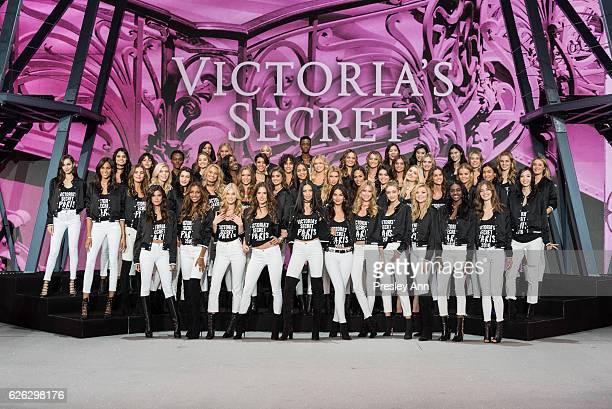 'Victoria's Secret' supermodels Gigi Hadid Kendall Jenner Bella Hadid Irina Shayk Joan Smalls Lily Donaldson Izabel Goulart Sui He Devon Windsor...
