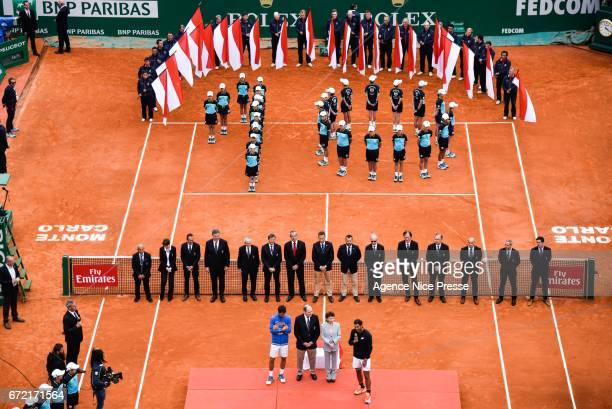 10 victories for Rafael Nadal in Monte Carlo during the Final of the Monte Carlo Rolex Masters 2017 on April 23 2017 in Monaco Monaco