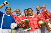Victorious Girls Soccer Team