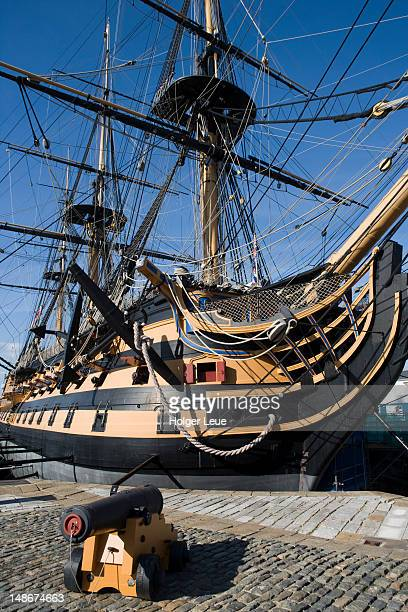 HMS Victory at Portsmouth Historic Dockyard.