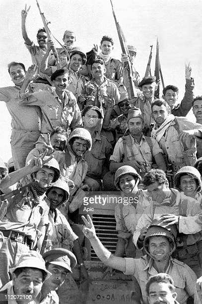 Victory of the israeli soldiers in Gaza november 4 1956 during the war Israel Egypt