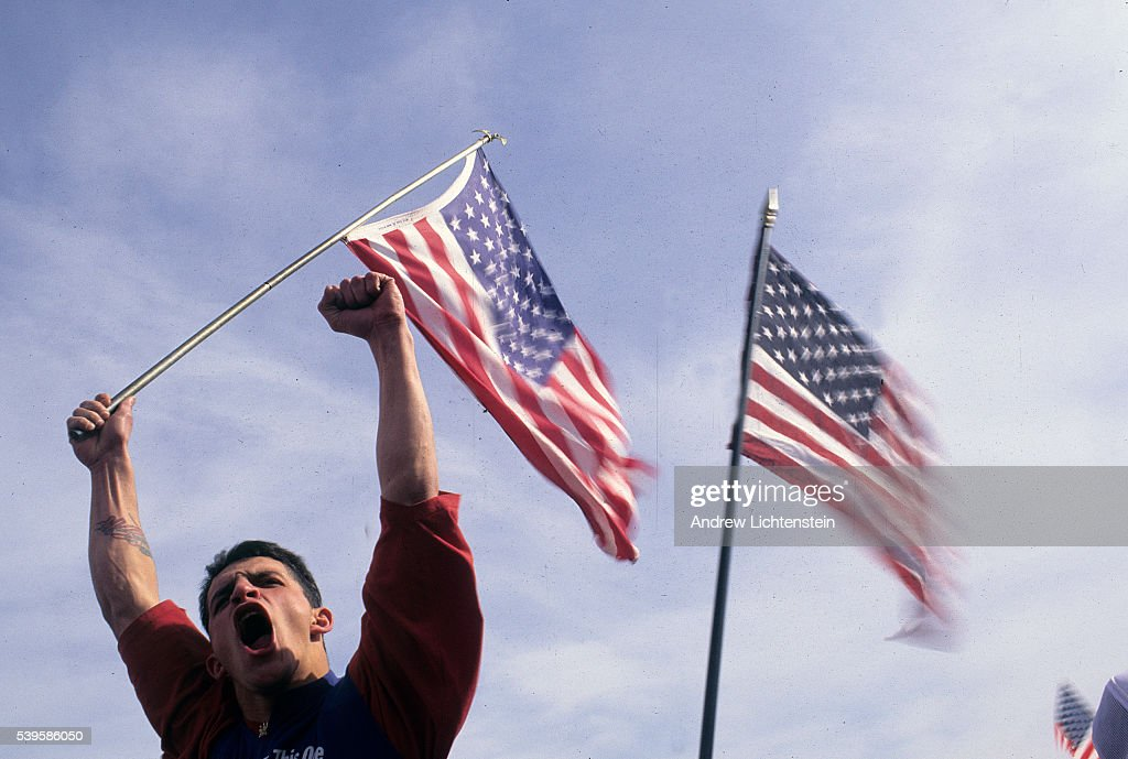 A victory rally held at Sandy Hook New Jersey just after the conclsion of the first Gulf War
