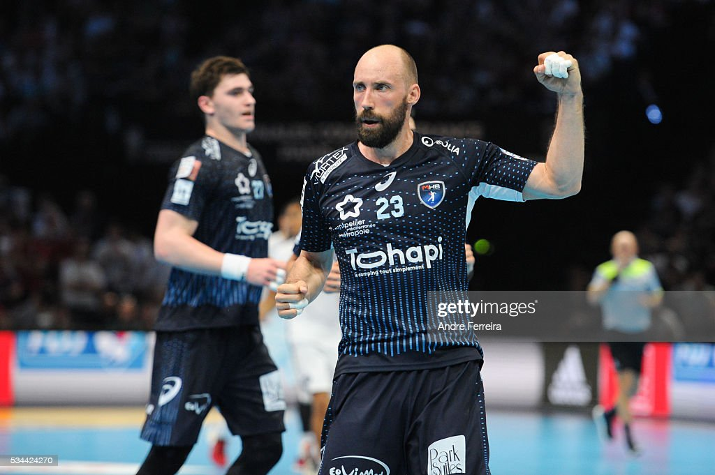 Vid Kavticnik of Montpellier during the French Cup Final between Montpellier and Paris SaintGermain at AccorHotels Arena on May 21 2016 in Paris...