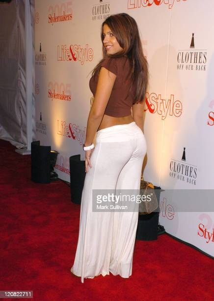 Vida Guerra during Life Style Magazine Presents Stylemakers 2005 Arrivals at Montmartre lounge in Hollywood California United States