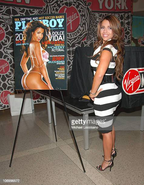 Vida Guerra during Playboy July 2006 Covergirl Vida Guerra Appearance at Virgin Magastore June 15 2006 at Virgin Megastore Times Square in New York...