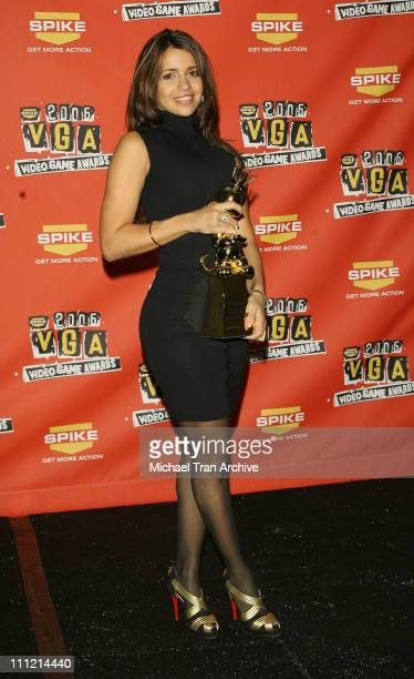 Vida Guerra during Spike TV's 2006 Video Game Awards Press Room at Galen Center in Los Angeles CA United States