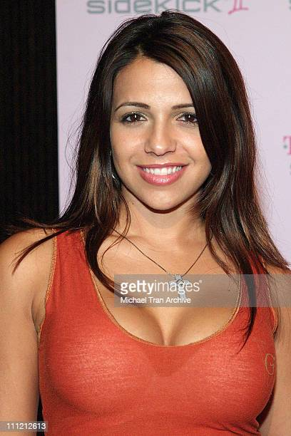 Vida Guerra during TMobile Limited Edition Sidekick II Launch Arrivals at TMobile Sidekick II City in Los Angeles California United States