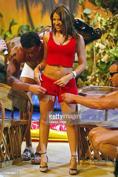 Vida Guerra during Vida Guerra 20052006 Swimsuit Calendar Launch at 'No Te Duermas' Telemundo Puerto Rico Puerto Rico