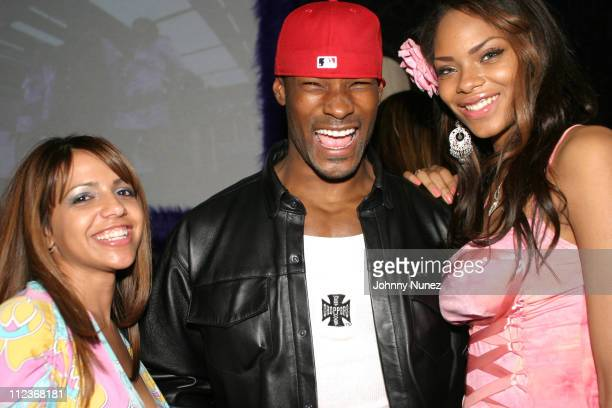 Vida Guerra Tyson Beckford and Sincerely Ward during 'Soul Plane' New York Premiere After Party at Plaid Nightclub in New York City New York United...