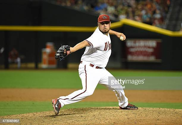 Vidal Nuno of the Arizona Diamondbacks delivers a pitch against the Washington Nationals at Chase Field on May 11 2015 in Phoenix Arizona