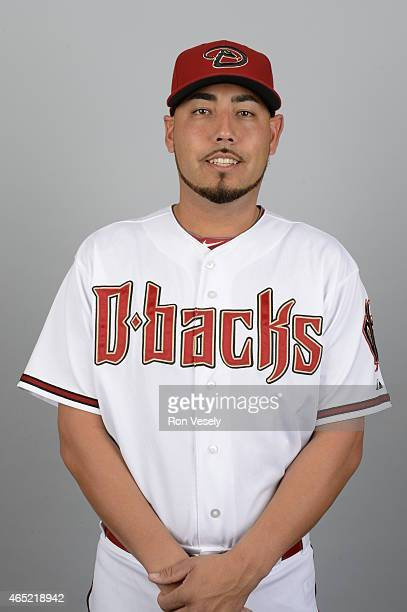 Vidal Nuno of the Arizona Diamondbacks poses during Photo Day on Sunday March 1 2015 at Salt River Fields at Talking Stick in Scottsdale Arizona