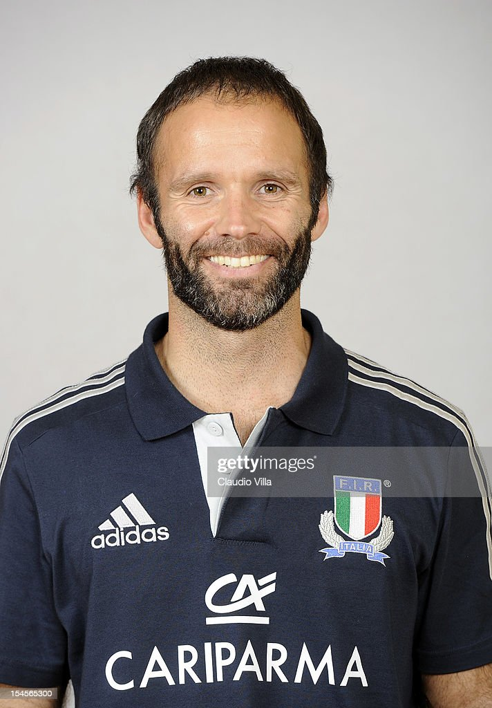 Video analyst David Fonzi poses during a Italy Rugby Union player portrait session on October 22, 2012 in Rome, Italy.