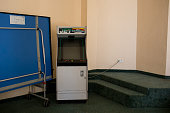 A video arcade machine is seen in the games room at the closed Imperial Marhaba Hotel on June 24 2016 in Sousse Tunisia The Imperial Marhaba hotel...