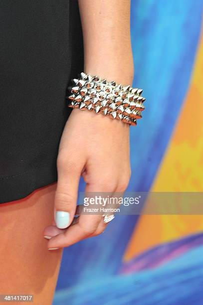 Video blogger G Hannelius attends Nickelodeon's 27th Annual Kids' Choice Awards held at USC Galen Center on March 29 2014 in Los Angeles California