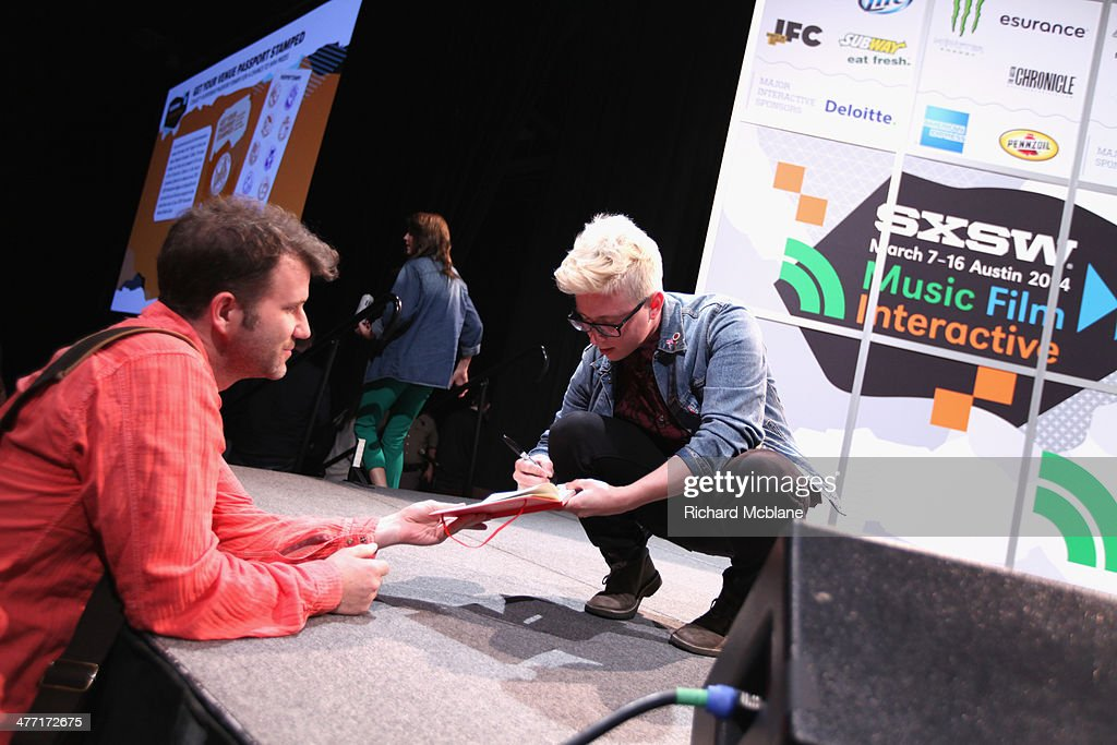 Video blogger Tyler Oakley speaks onstage at 'Super Fandom in the Digital Age' during the 2014 SXSW Music, Film + Interactive Festival at Austin Convention Center on March 7, 2014 in Austin, Texas.