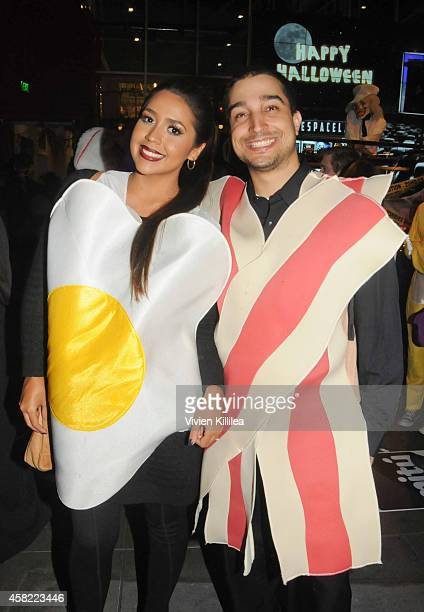 Video blogger Ydelays and Adolfo Aristimuno attend the YouTube Space House Of Horrors A Legendary Halloween Party at YouTube Space LA on October 31...