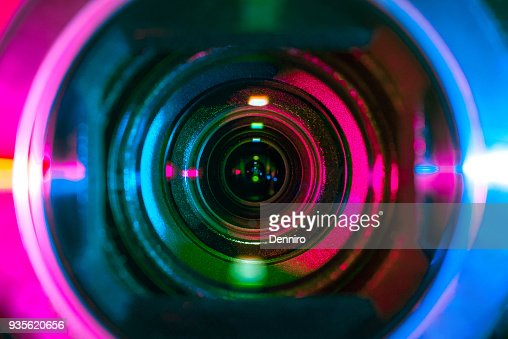 Video camera lens : Stock Photo