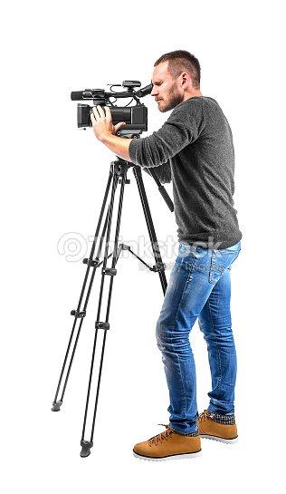 Video camera operator : Stock Photo
