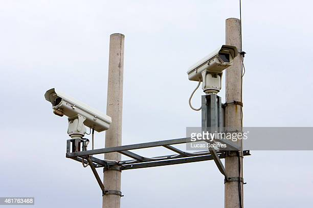 Video cameras are used to spot North Korean refugees illegally crossing the Tumen river the natural ChineseNorth Korean border on May 10 2009 in...