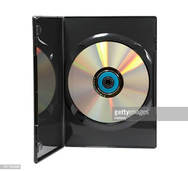 DVD video case (clipping path), isolated on white background