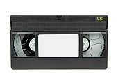 VHS video casette isolated on white background