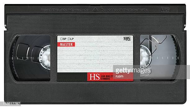 VHS Video Cassette Tape isolated on white background, clipping path