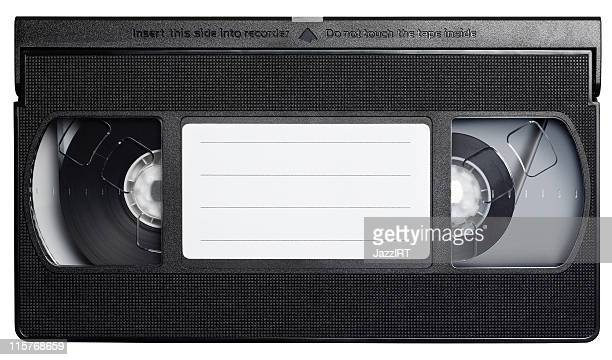 Video cassette tape isolated on white.