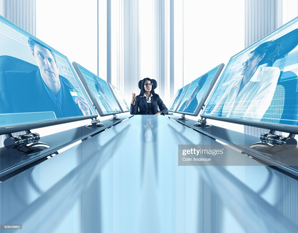 video conference meeting : Stock Photo