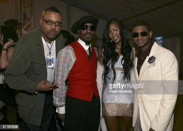 Video director Bryan Barber Andre 3000 of Outkast model Naomi Campbell and singer Usher attend the MTV Europe Music Awards 2004 at Tor di Valle...