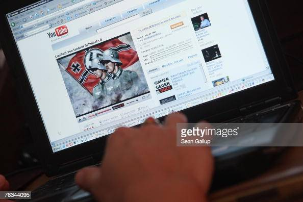 A video from the German neoNazi music band Lunikoff is seen on the website of YouTube August 27 2007 in Berlin Germany German government officials...