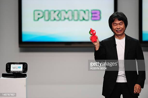 Video game designer Shigeru Miyamoto the creator of games such as Mario Donkey Kong The Legend of Zelda Star Fox FZero and Pikmin introduces the Wii...
