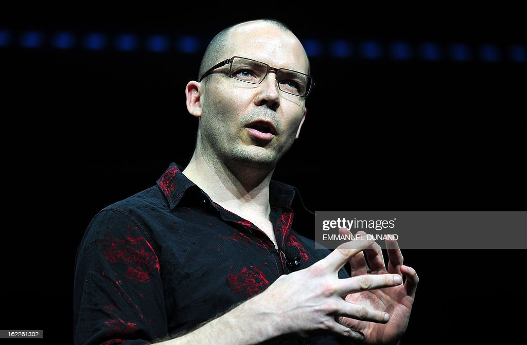 Video game developer Jonathan Blow, talks as Sony introduces the PlayStation 4 at a news conference February 20, 2013 in New York.