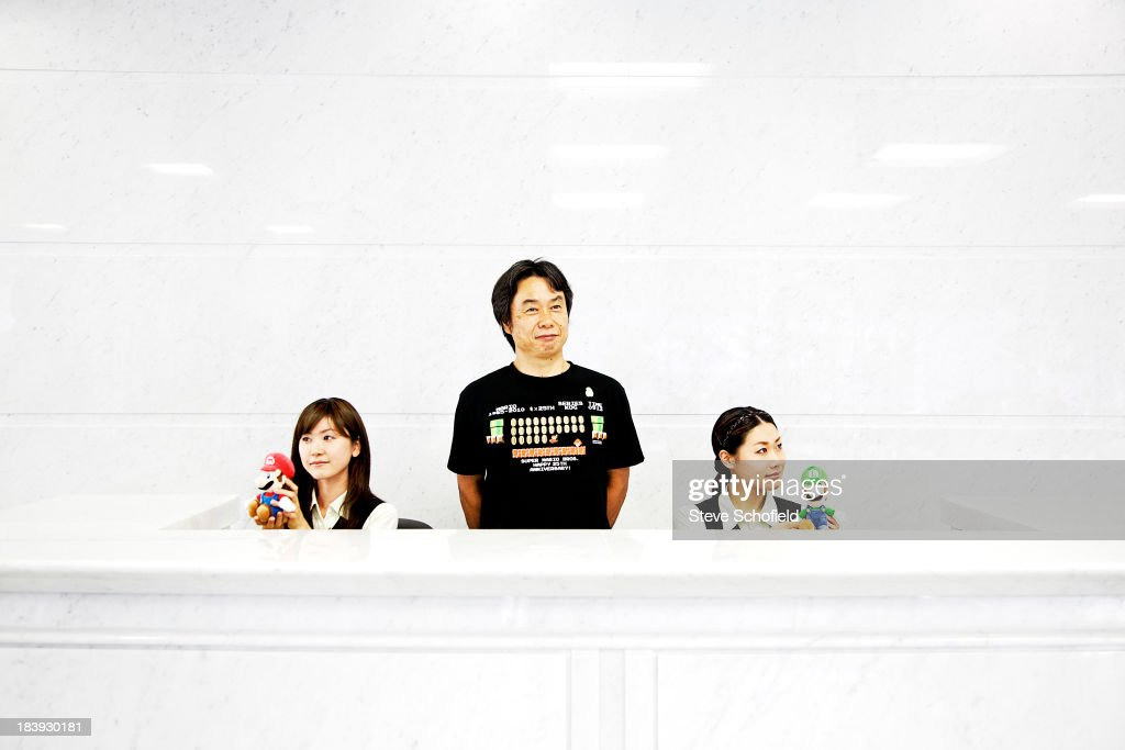 Video game developer <a gi-track='captionPersonalityLinkClicked' href=/galleries/search?phrase=Shigeru+Miyamoto&family=editorial&specificpeople=2608501 ng-click='$event.stopPropagation()'>Shigeru Miyamoto</a> is photographed for the Sunday Times magazine on June 10, 2010 in Tokyo, Japan.