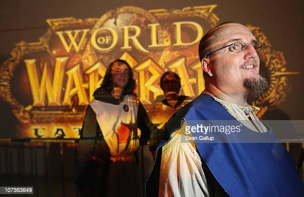 Video gaming enthusiasts wait to purchase the new 'World of Warcraft Cataclysm' game shortly before midnight at the game's global sales premiere kick...