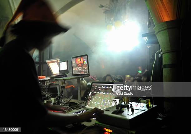 Video jockey An is operated at a nightclub.