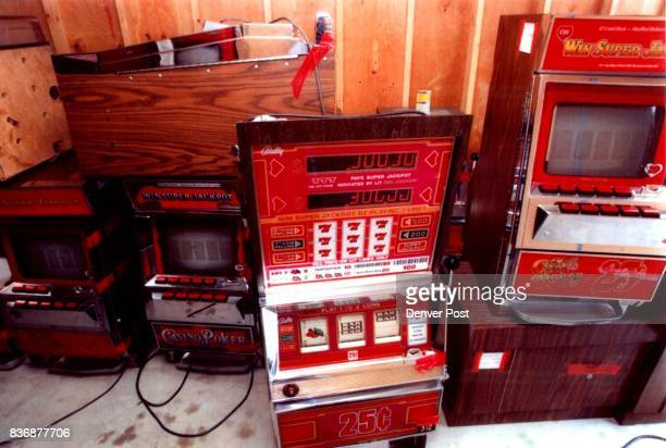 Video poker machines seized by the Colorado bureau of investigation this summer Credit Denver Post