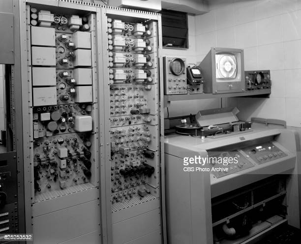Video tape room on the second and seventh floors at CBS television studios Grand Central Terminal 15 Vanderbilt Avenue New York NY February 12 1958