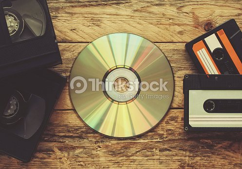 video tapes, audio tapes and compact disc : Stock Photo