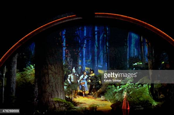 Video tribute to 'The Wizard of Oz' onstage during the Oscars at the Dolby Theatre on March 2 2014 in Hollywood California