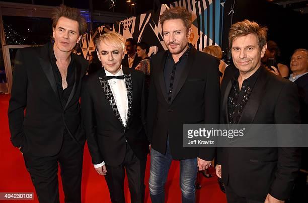 Video Visionary Award recipients John Taylor Nick Rhodes Simon Le Bon and Roger Taylor of Duran Duran attends the MTV EMA's 2015 at Mediolanum Forum...