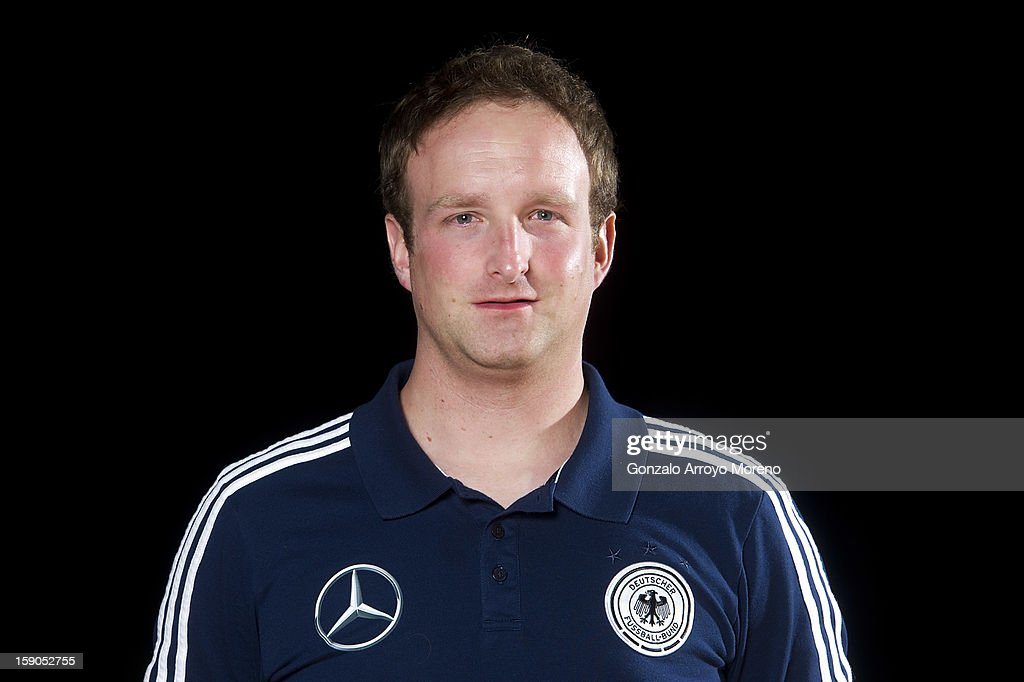Videoanalyst Frank Rutemoller poses during the Germany U17 team presentation at La Manga Club training ground H on January 6, 2013 in La Manga, Spain.