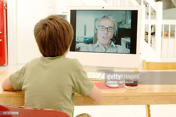 Videochatting with Granddad