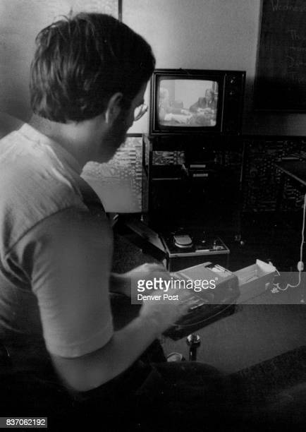 Videotape Machine Is Used To Record Deposition A Student at the Denver Academy of Court Reporting operates machine Credit Denver Post