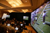 Videotapes taken by former New England Patriots video operator Matthew Walsh are shown to the media on May 13 2008 at the Intercontinental Hotel in...