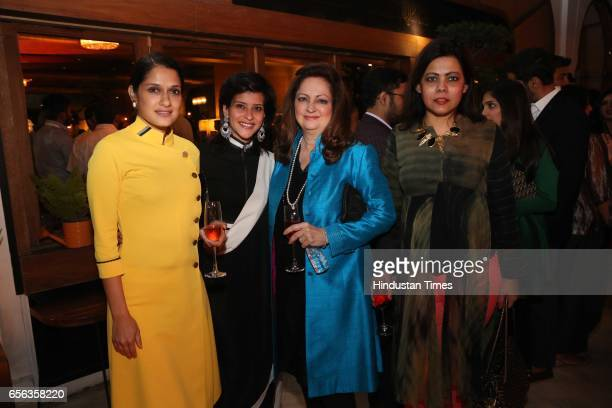 Vidhushi Verma and Rima Mehra during a special show curated by designer duo Shantanu Nikhil for the travel platform Airbnb on March 19 in New Delhi...