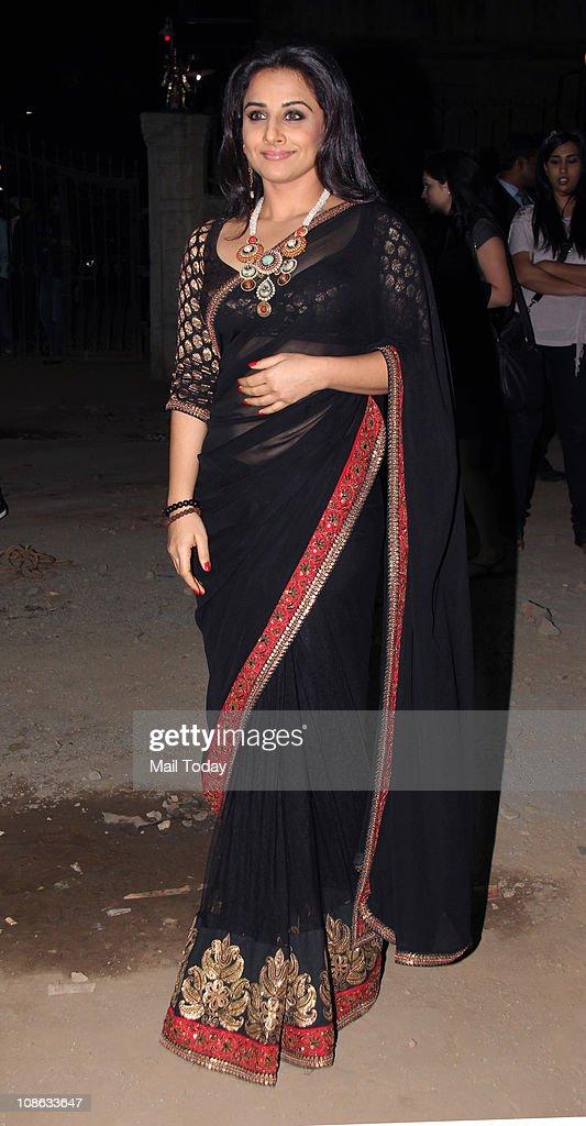 Vidya Balan at the 56th Idea Filmfare Awards at Yashraj Studios in Mumbai