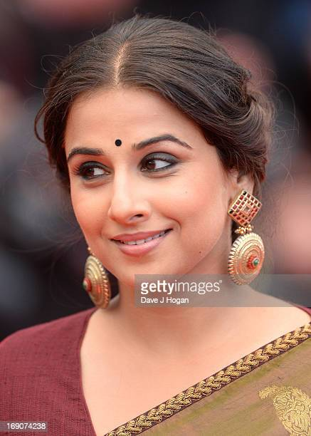 Vidya Balan attends 'Inside Llewyn Davis' Premiere during the 66th Annual Cannes Film Festival at Palais des Festivals on May 19 2013 in Cannes France