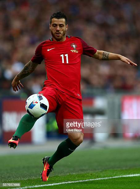 Vieirinha of Portugal in action during the international friendly match between England and Portugal at Wembley Stadium on June 2 2016 in London...